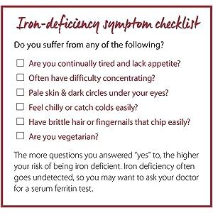 Iron deficiency checklist