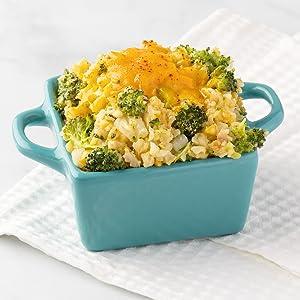 Cauliflower Rice & Broccoli Casserole