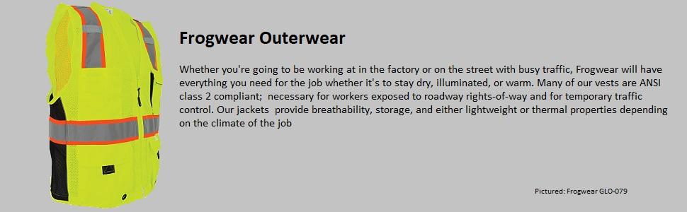 frogwear outwerwear vests