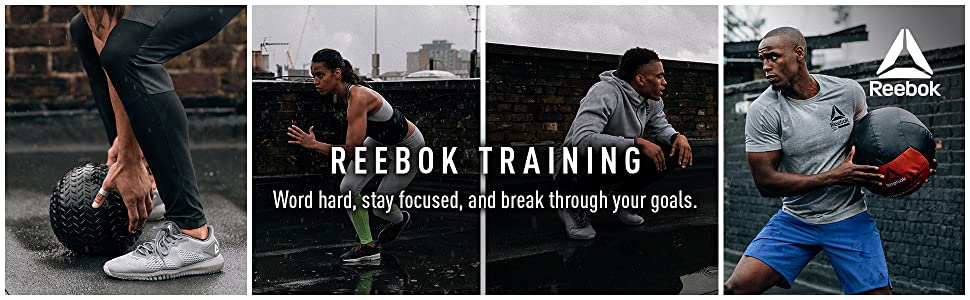 People Training, working out with Reebok Training outfits