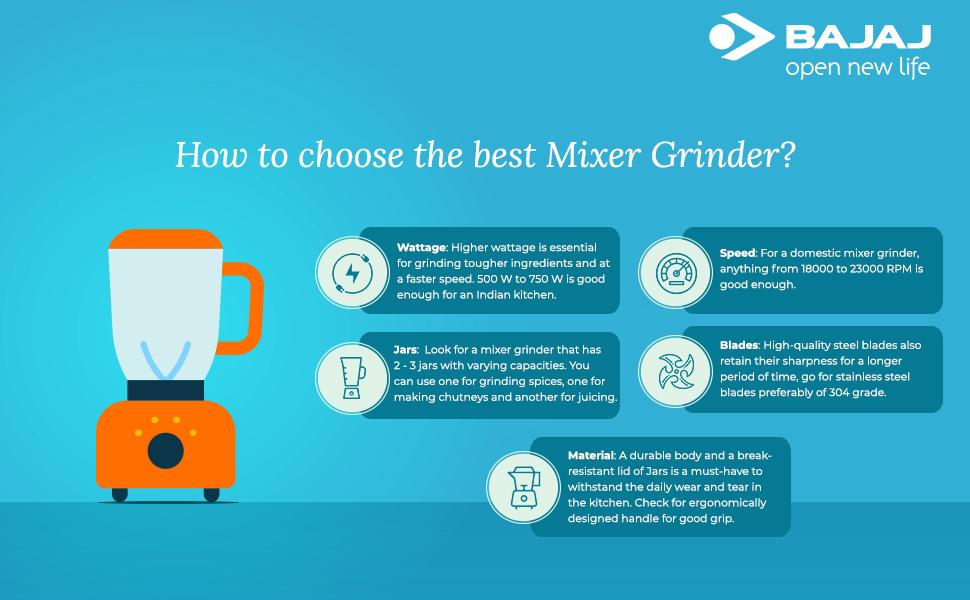 B07P3JHPQR - Bajaj Stormix 750-Watt Mixer Grinder with 3 Jars (Silver and grey)- SPN FOR-1