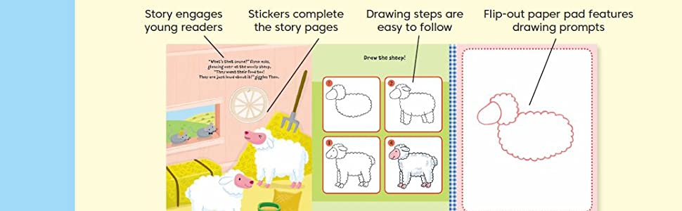 Watch Me Read and Draw: On the Farm: A step-by-step drawing & story book