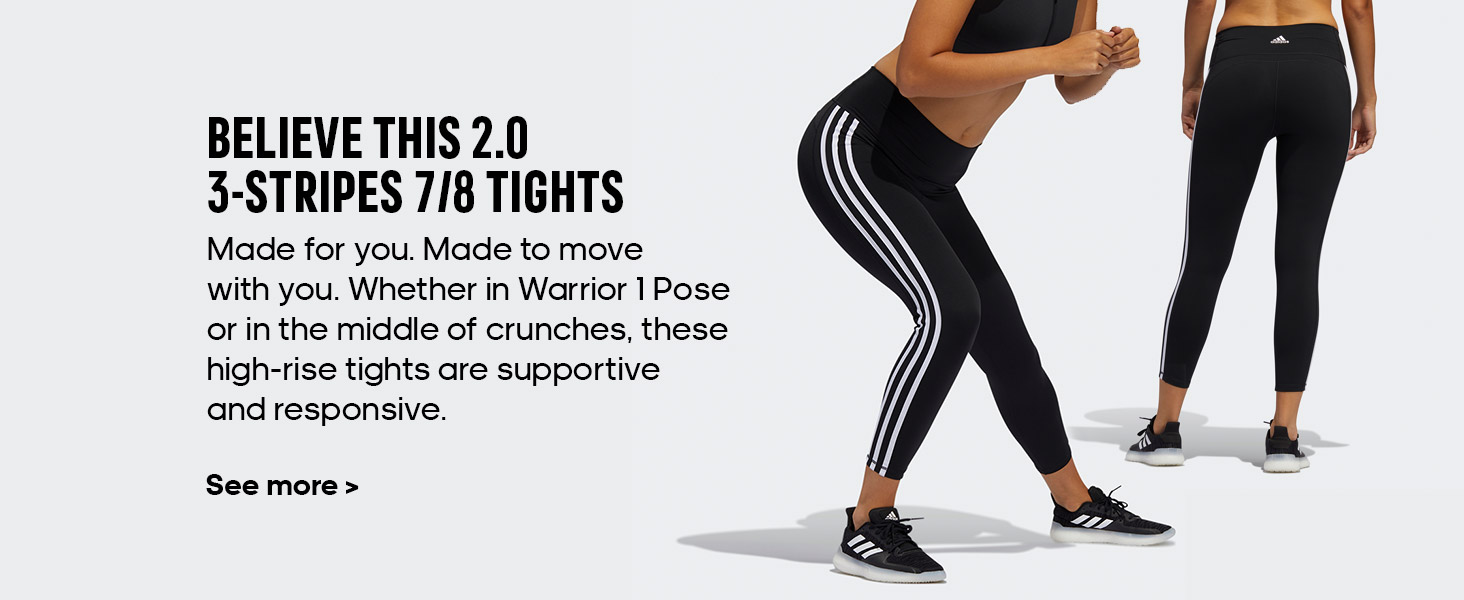 believe this 3 stripes tights