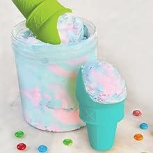 reusable ice cream cones, ice cream for kids, ice cream scoop