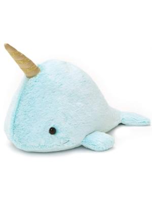 """GUND Nori Narwhal Stuffed Animal Plush, Blue, 12"""""""