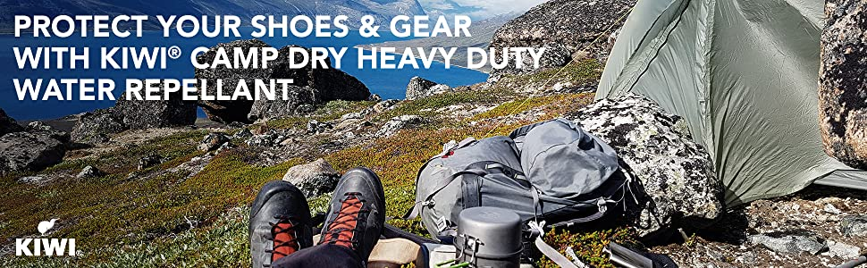 Protect Your Shoes & Gear with KIWI Camp Dry Heavy Duty Water Repellant