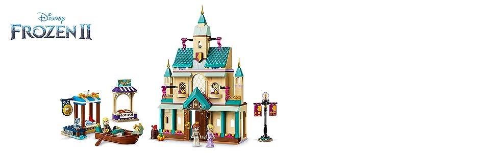 LEGO Disney Princess - Aldea del Castillo de Arendelle, Set de construcción Castillo de la Princesa Elsa, Incluye Minifiguras de Kristoff, Anna y un Gato (41167) , color/modelo surtido: Amazon.es: Juguetes y