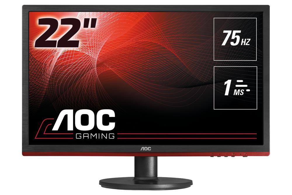 aoc g2260vwq6 21 5 widescreen tn led black red monitor. Black Bedroom Furniture Sets. Home Design Ideas