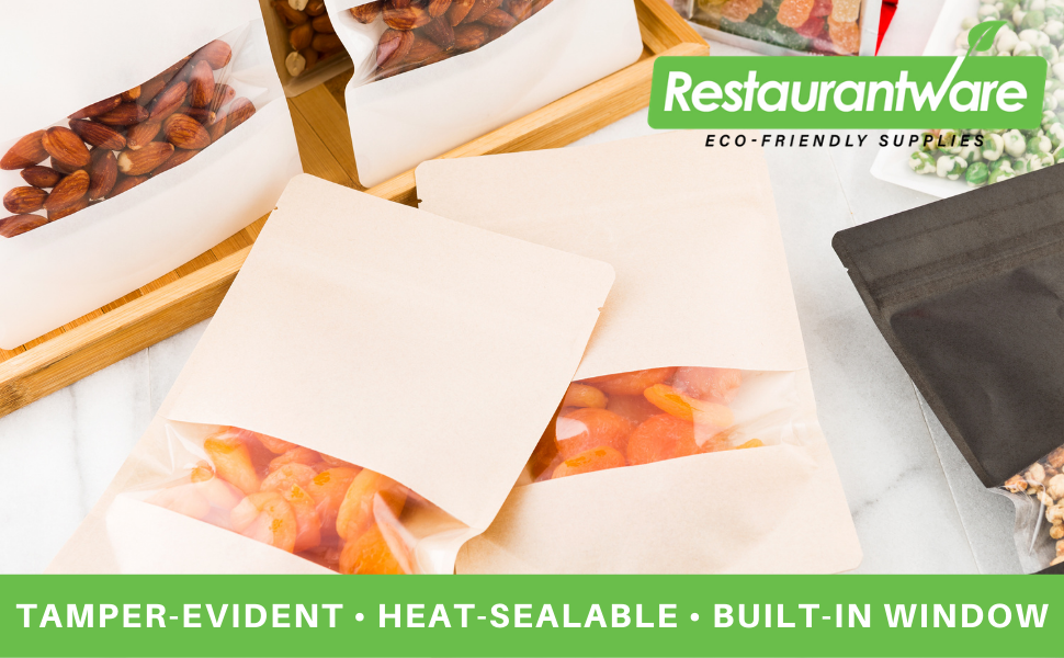 These plastic resealable bags are tamper-resistant to keep food securely contained.