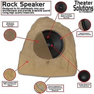 theater solutions by goldwood rock speakers - Outdoor Rock Speakers