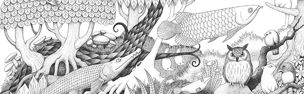松山円香 塗り絵 Songs 生き物たちの塗り絵 ワニの塗り絵