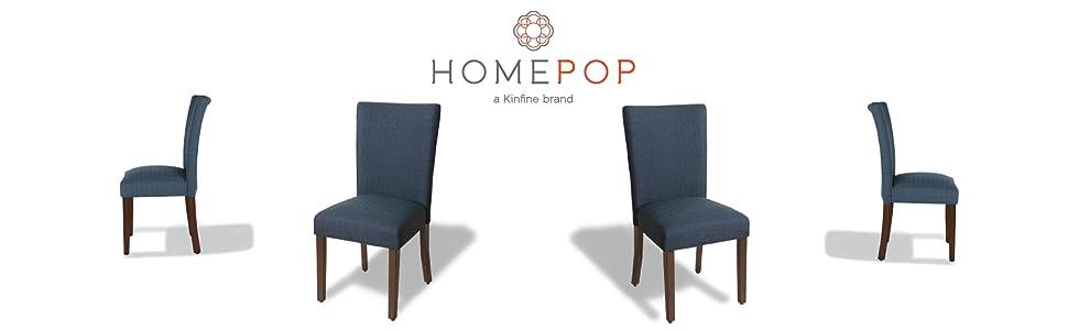 Amazon.com: HomePop Parsons - Silla de comedor clásica ...