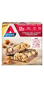 chocolate almond crunch atkins protein bar low carb