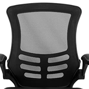 Swivel Chair with Mid-Back Black Mesh