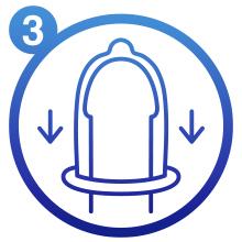 Manipula el preservativo con cuidado, ya que puede dañarse con las uñas u objetos cortantes.