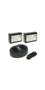 Wasabi Power 2 Batteries + Dual Charger Kit for Sony NP-FW50