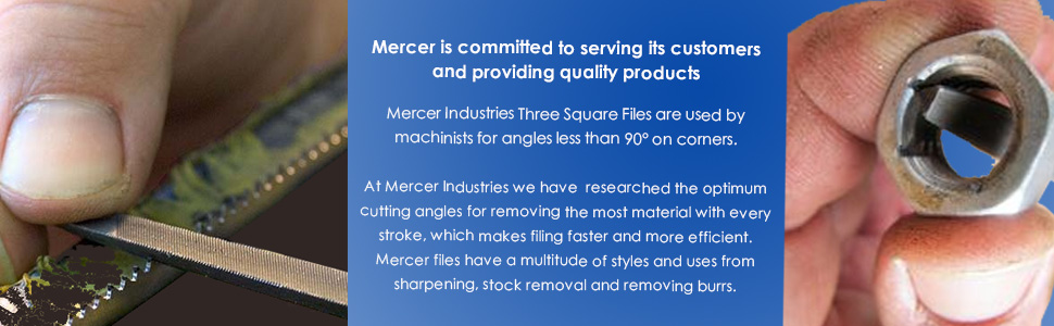 Mercer Industries BTHS10 Three Square File, Smooth Cut (12