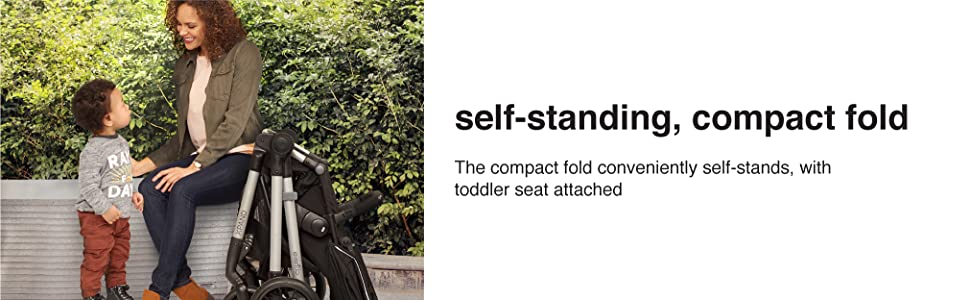fold, compact, self standing, convenient, toddler, baby
