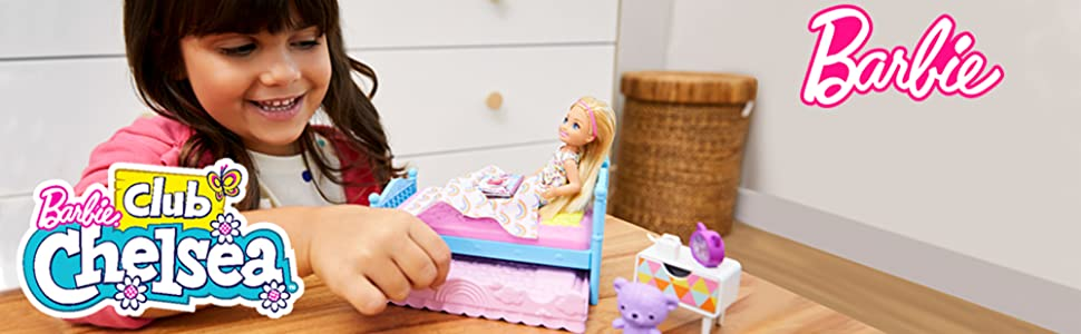 BARBIE CLUB CHELSEA BEDTIME DOLL and PLAYSET DREAMTOPIA
