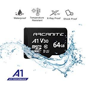 ARCANITE - Tarjeta de memoria microSDXC de 64 GB con adaptador ...