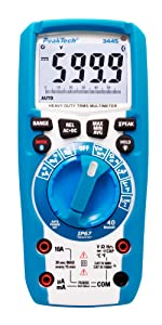 Peaktech 3443 Digital Multimeter Mit Led Lampe Wasserdicht Ip67 6000 Counts Extrem Robustes Gehäuse Handmultimeter Spannungsmesser Durchgangsprüfer Messung Messgerät Cat Iii 1000 V Gewerbe Industrie Wissenschaft
