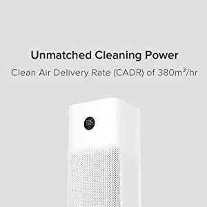 High Clean Air Delivery Rate (CADR)