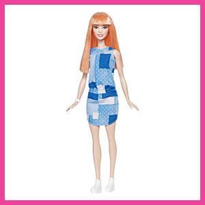 Barbie Fashionistas Doll 60 Pattern Dress, Blue