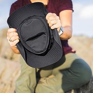 wide brim shapeable sun hat