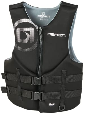 O'Brien Traditional, black, life, jacket, floatation, device, USCGA, O'Brien, Vest,