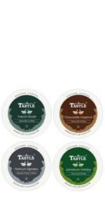 ... k-cups k-cup single serve coffee cafe ground arabica flavored keurig tastle espresso