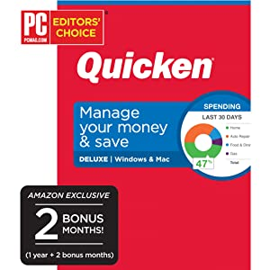 Quicken Deluxe Budget Manage Money Personal Finance Computer Laptop Income Expenses Track Calc