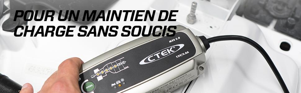 chargeur ctek ctek ctek mxs 5.0 chargeur batterie chargeur batterie lente maintien charge batterie