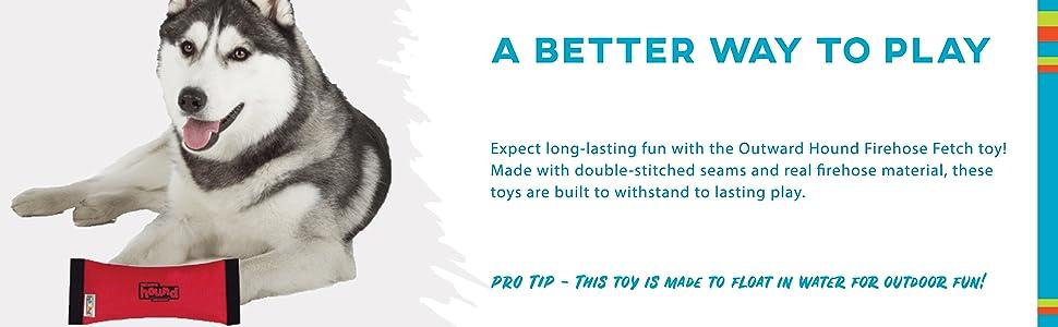 dog toy, indestructible dog toy, firehose dog toy, recycled firehose dog toys, tough dog toy