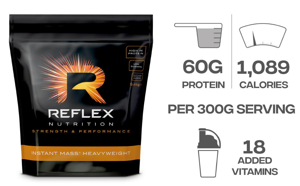 Reflex Nutrition Instant Mass Heavyweight Chocolate ...