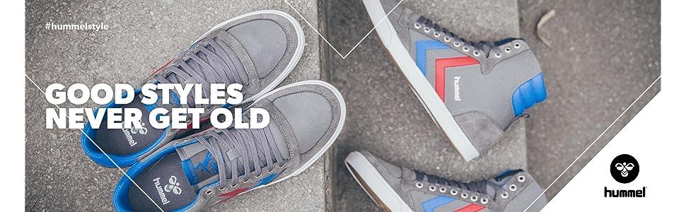 Hummel Slimmer Stadil Herringbone Low Cut Sneaker Damen Freizeit Schuhe 65-142
