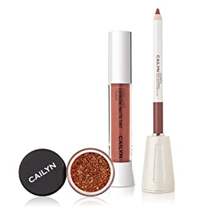 Cailyn Matte to Glitter Lip trio perfect nude holiday makeover