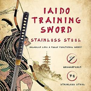 Handmade Sword - Stainless Steel Unsharpened Iaido Training