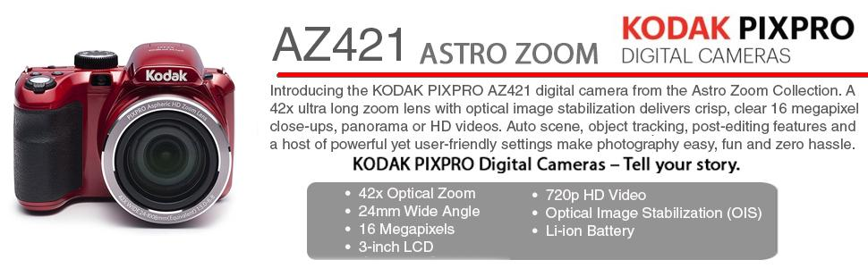 KODAK PIXPRO AZ421 Astro AZ421 16 MP Digital Camera with ...