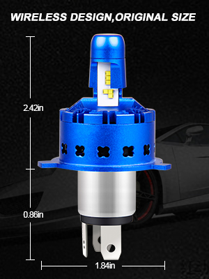 BEAMFLY H4 LED 12000LM Kit Lampadine Fari Anteriori Auto 80W 12V 6000K