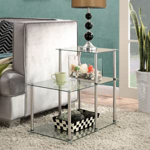 multi level side table glass furniture
