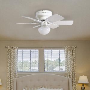 Design house 152991 atrium 1 light ceiling fan 30 white design house atrium 30 hugger fan mozeypictures Choice Image