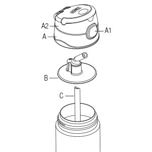 Thermos Funtainer bottle top