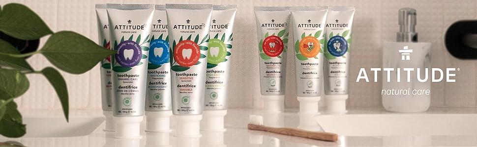 attitude toothpastes with fluoride