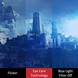 Flicker-Free, Blue Light Filter