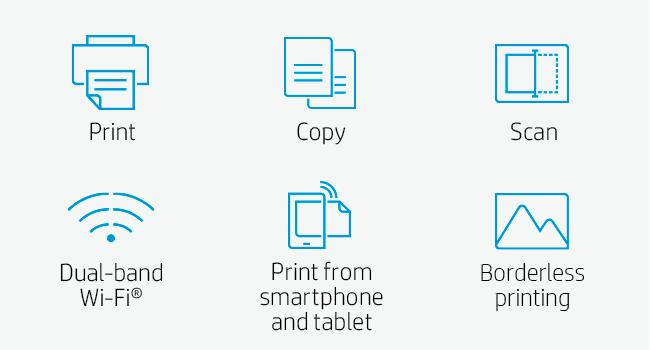 print copy scan dual-band wi-fi mobile and borderless printing