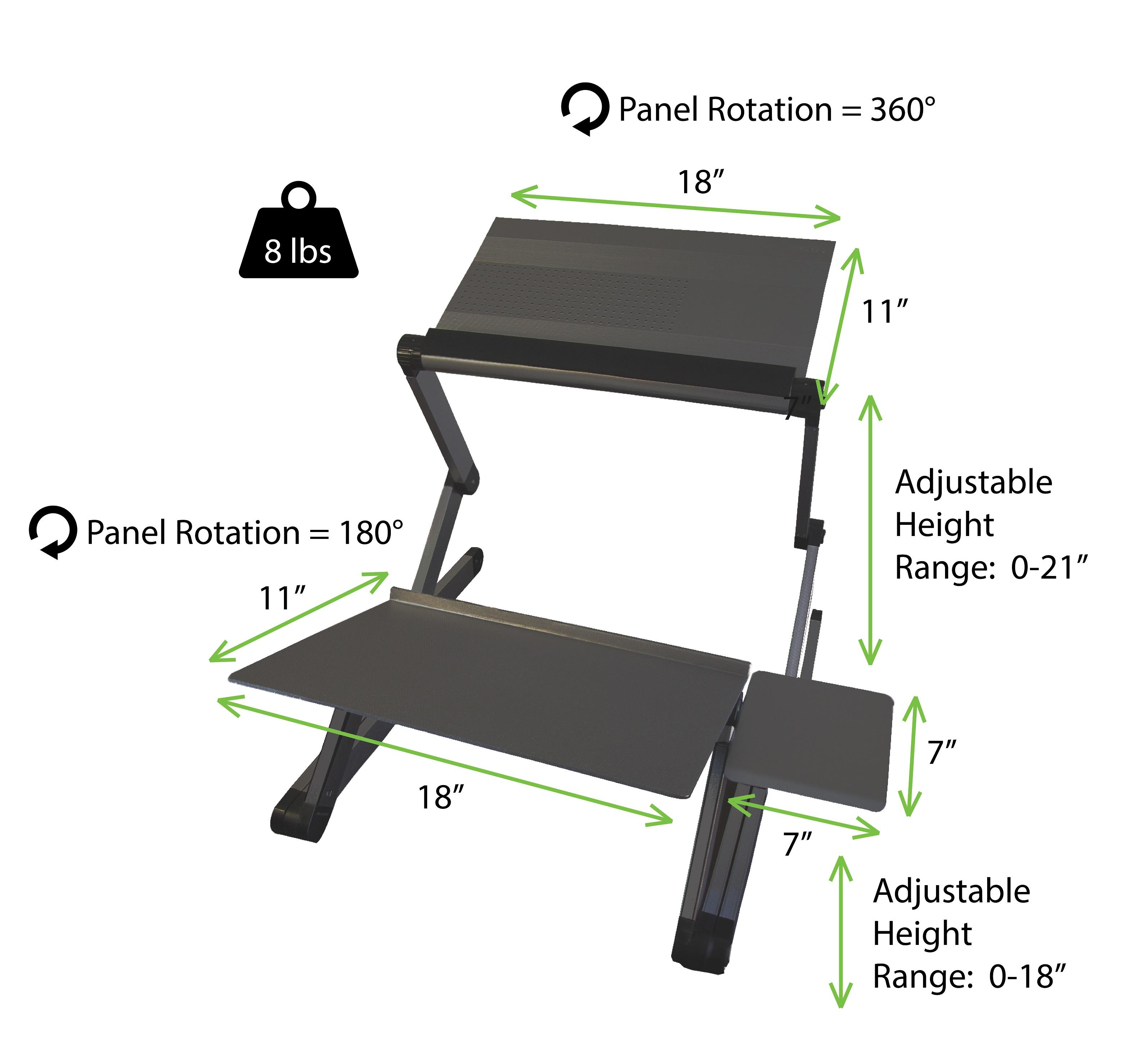 uncaged ergonomics workez standing desk conversion kit for