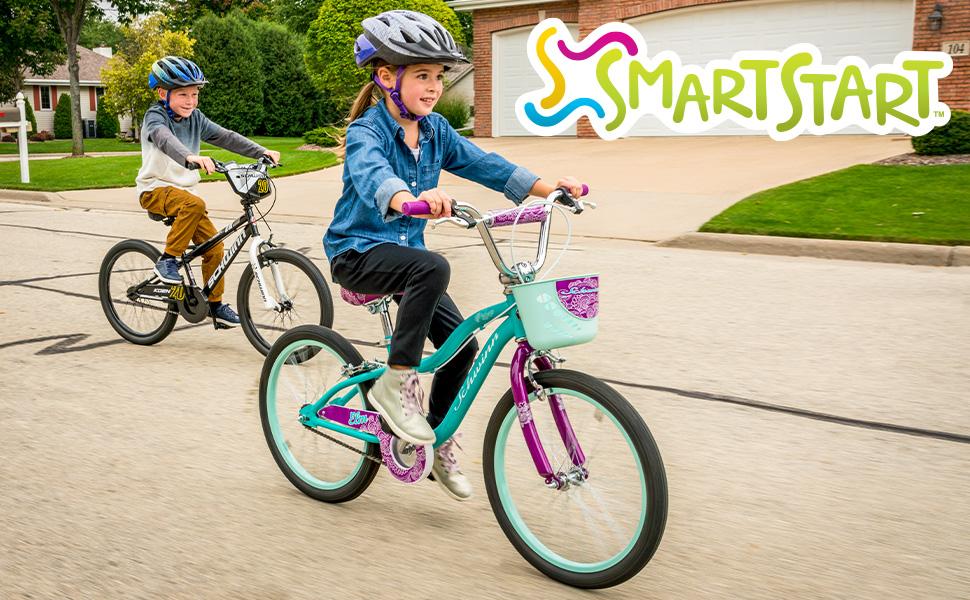 Elm and Koen Bikes riding on the street