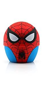 marvel, spiderman, bluetooth, speaker, bitty boomer