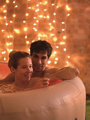 Paris inflatable spa hot tub white