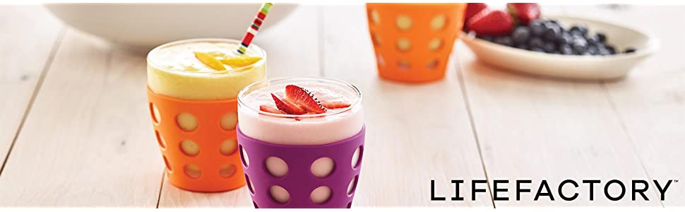 lifefactory, life factory, glass, water glass, juice glass, cup, beverage glass, drinking glass